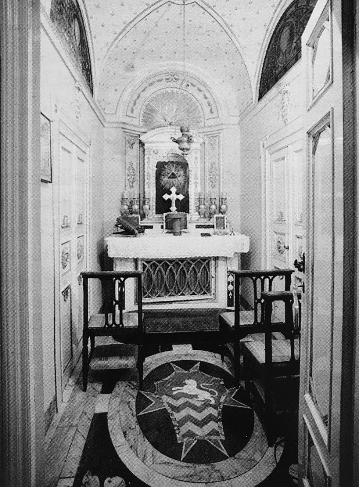 The private chapel that once held the embalmed corpse of Camilla Rucellai. Photo: author.