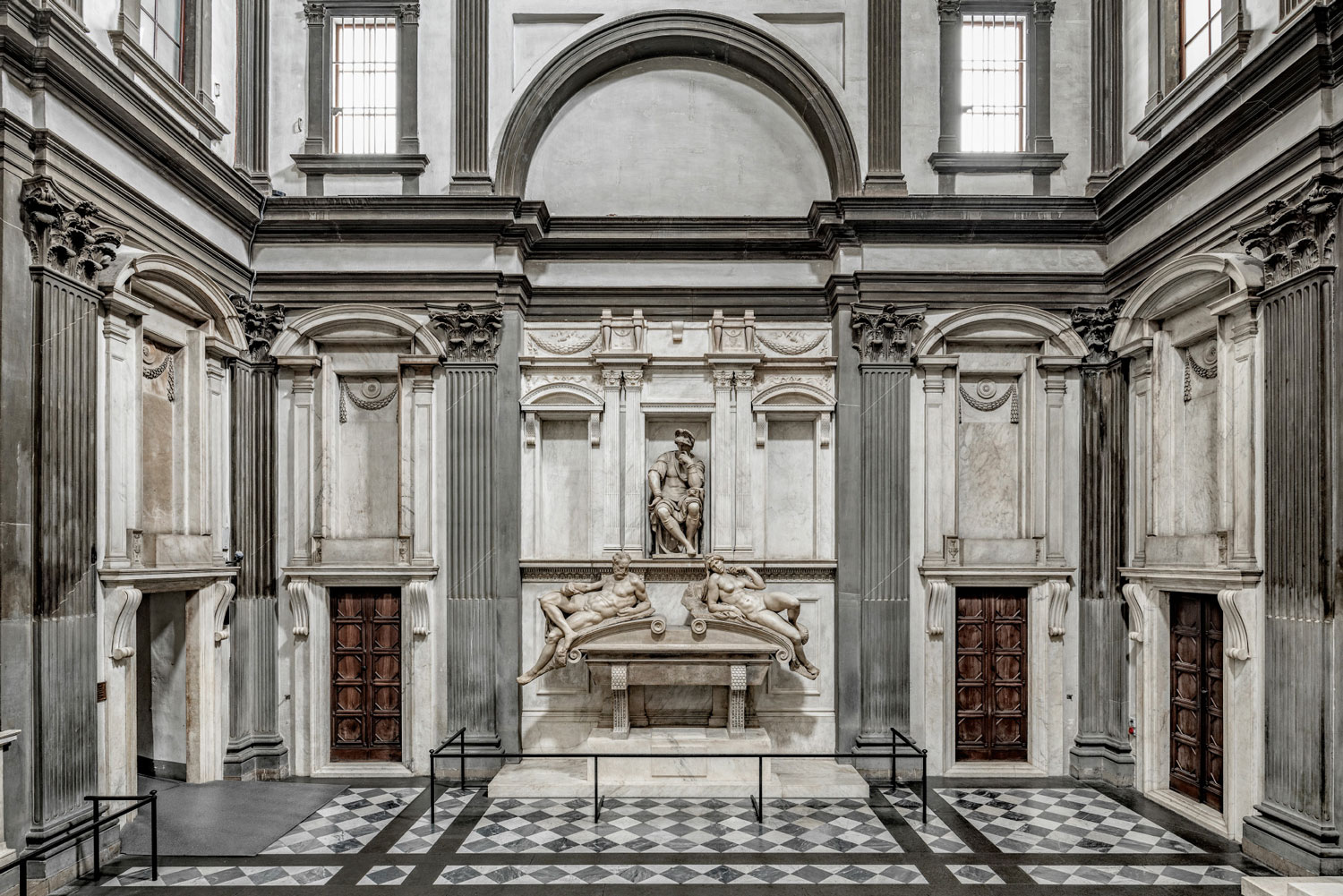 The tomb of Lorenzo in the Medici Chapel (New Sacristy) by Michelangelo