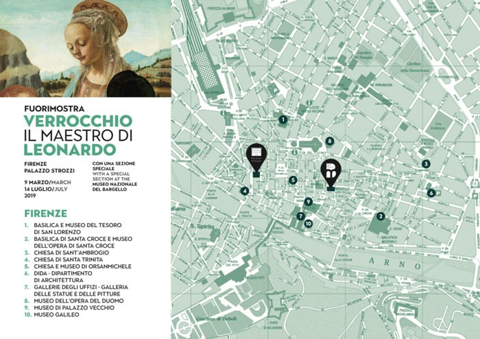 Fuorimostra booklet with map of where to find more Verrocchio