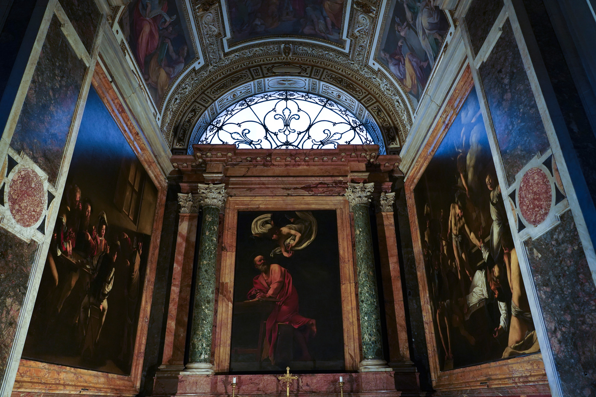 Caravaggio's 3 paintings in the Contarelli Chapel