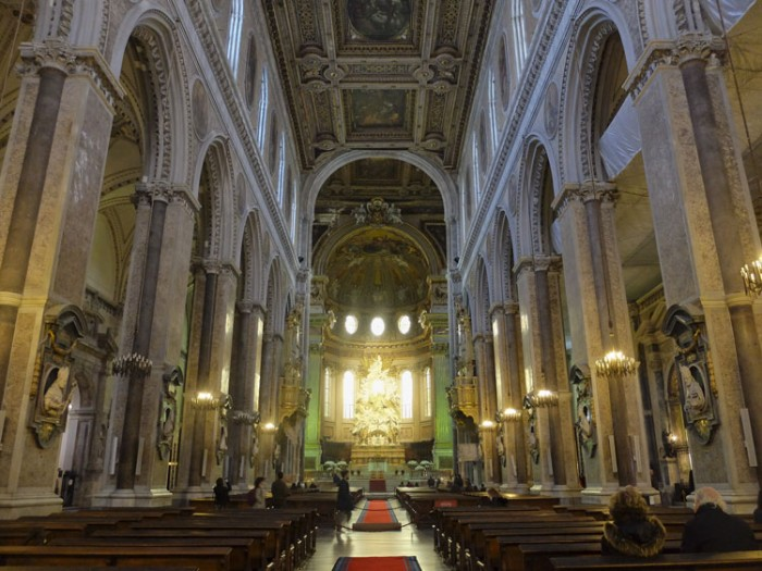 Interior of the Naples Cathedral