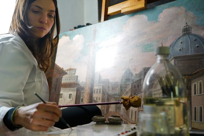 Watching a restorer at work