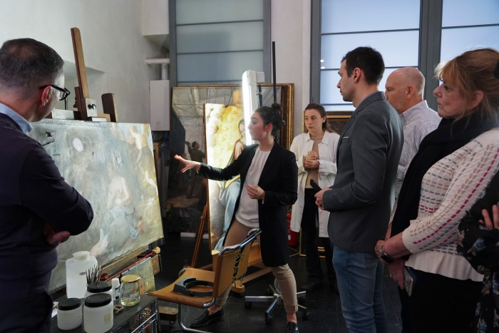 Our group learns about restoration