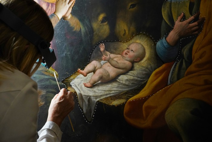 White chalk outlines a day's work