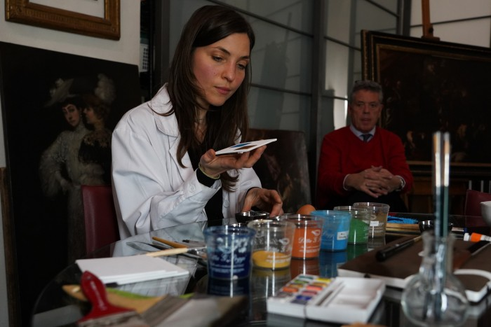 Egg tempera demonstration