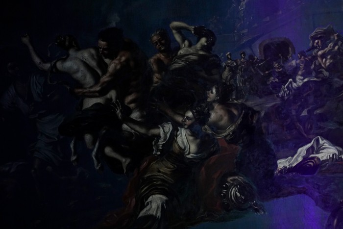 So that's what a painting looks like under UV light!