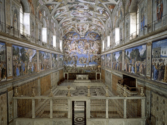 Photos aren't permitted inside the Sistine Chapel | credit: http://www.museivaticani.va