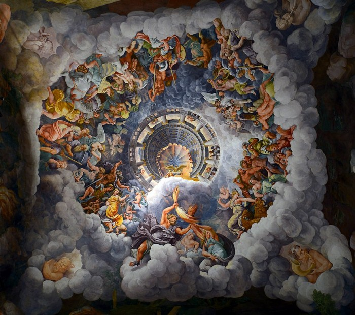 Ceiling of the Room of the giants in Palazzo Te, Mantua | ph. Wikipedia