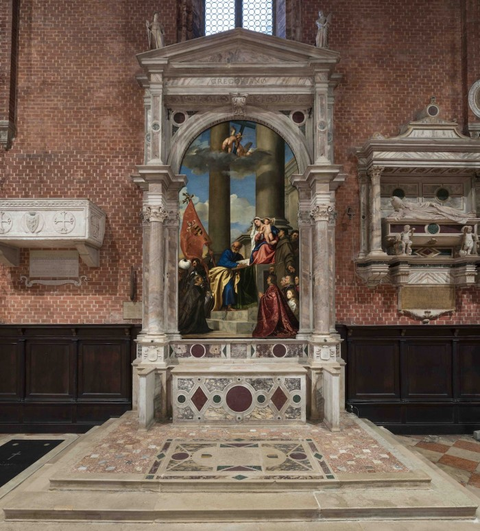Titian's Pesaro Madonna | ph. of restored work from Save Venice