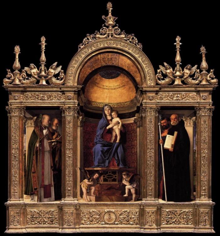 "Giovanni Bellini's ""Madonna and Child with Saints"", Frari | ph. Wikimedia Commons"