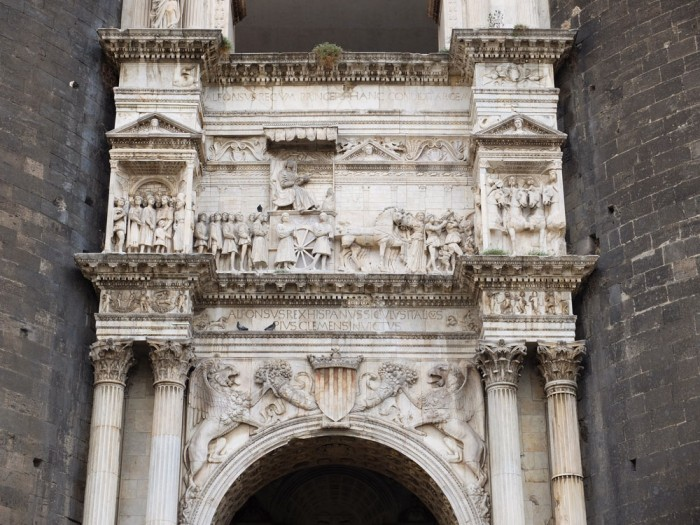 The Renaissance sculpted arch at Castel Nuovo, Naples