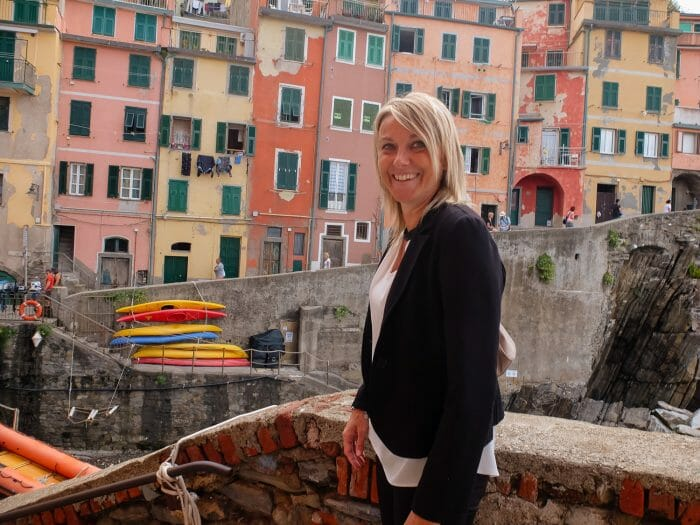 Fabrizia Pecunia, the mayor of Riomaggiore