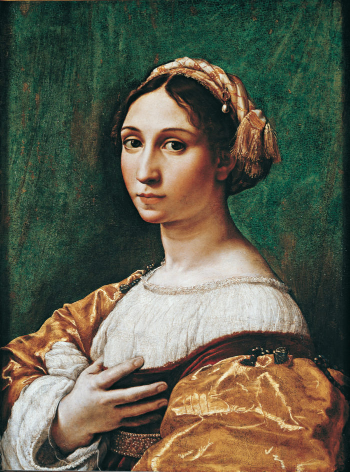 Raphael, Portrait of a young woman,