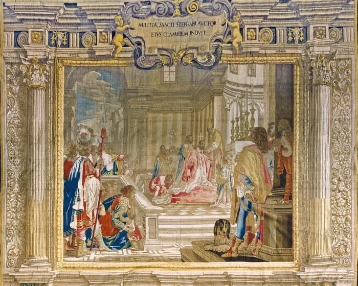 Cosimo receiving the investiture, Palazzo Pitti (storage)