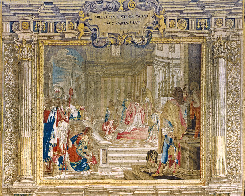 Cosimo receiving the investiture, Palazzo Pitti (storage)