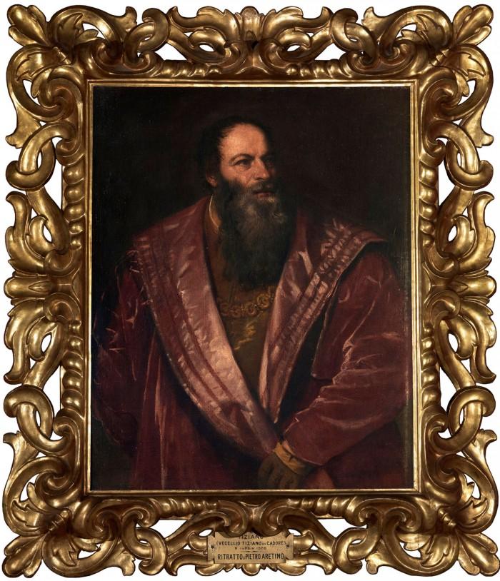 Titian, Portrait of Pietro Aretino, 1545