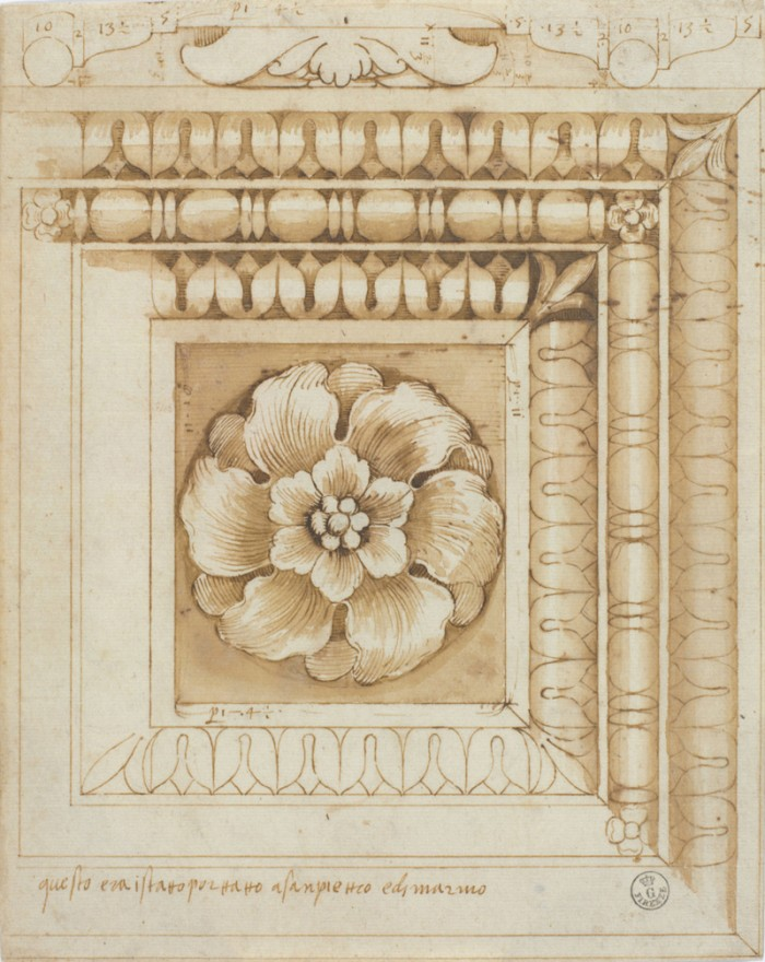 Pietro Rosselli, drawing for a ceiling