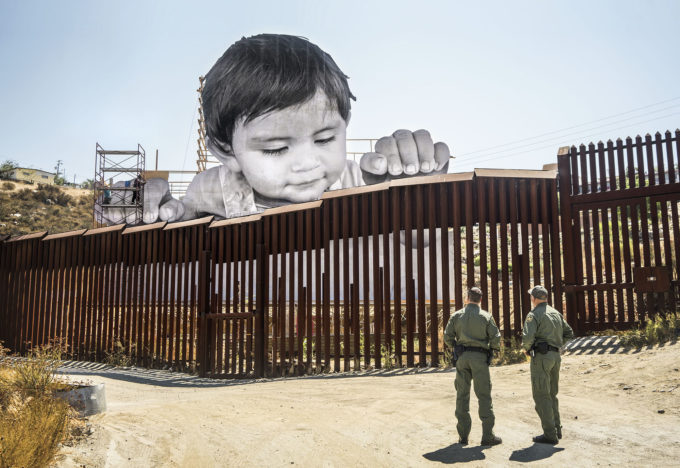 JR, GIANTS, Kikito and the Border Patrol