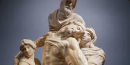 Michelangelo's Pietà after restoration, Ph. Alexandra Korey